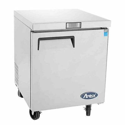 """New 27"""" 1 Door Undercounter Worktop Freezer With Casters Free Shipping In 24Hrs"""