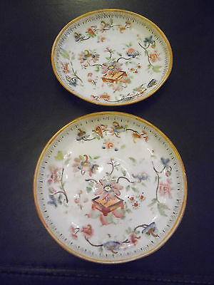 Pair Of Pretty Vintage Floral Dishes/plates