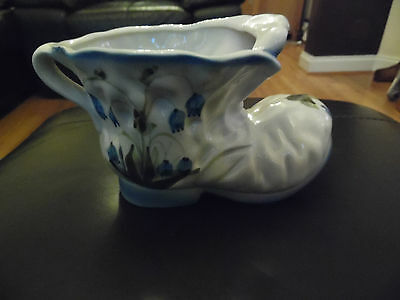 Bluebell Decorated Ceramic Boot Shaped Planter