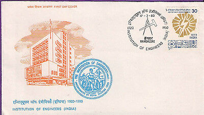India 1980 Instituion Of Engineers Fdc # F 92