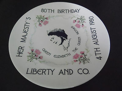 LIBERTY & CO QUEEN MOTHER 80th BIRTHDAY PLATE