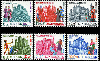 Luxembourg B270-5 MNH - Luxembourg Castles