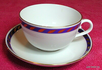 Herend First Edition (Candlelight Blue) CUP & SAUCER SET Exc Pat #RFXB