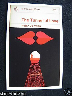 Penguin Book Cover Postcard The Tunnel Of Love Peter De Vries