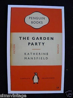Penguin Book Cover Postcard The Garden PArty Katherine Mansfield