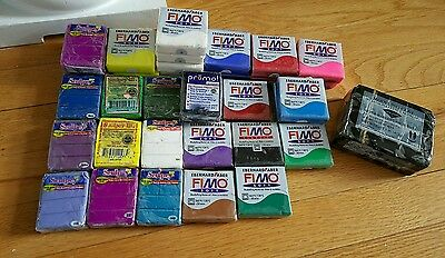 Lot Of Fimo, Sculpey & Premo Van Aiken Modeling Clay Unopened New