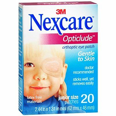 60 x Junior Size Nexcare 3M Childrens Opticlude Orthoptic Eye Patches Small