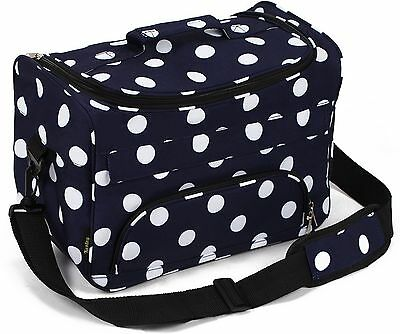 Kenley Professional Hairdressing Hair Equipment Tool Carry Case Bag - Polka D...