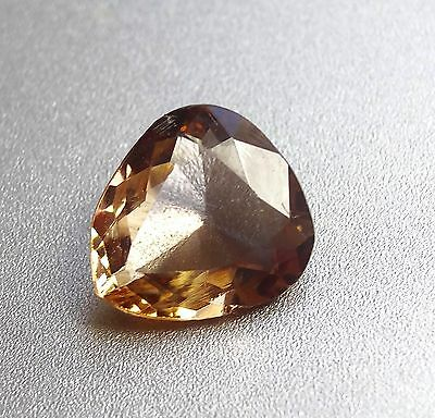 0.82cts Beautiful Champagne color change natural Axinite loose gemstone