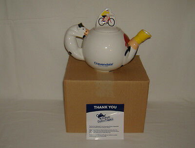 Cravendale Teapot  Pirate Cyclist Cow - Collectable  BNIB