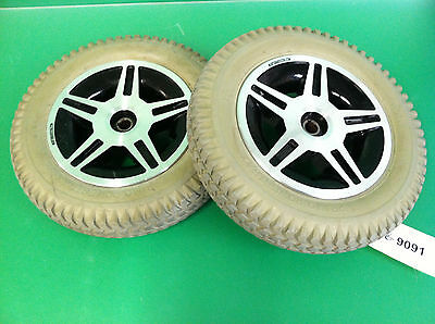Wheels & Tires for Quantum 600 Power Wheelchair ~set of 2~  #9091
