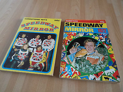 2 Websters Speedway Mirror Year Books 1972 And 1973.