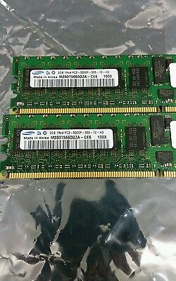 Samsung 4GB DDR2 PC2-5300 ECC REGISTERED MEMORY KIT. 2x2Gb DIMM