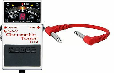Boss TU-3 Chromatic Tuner Guitar Tuner Pedal tu3 - INCLUDING PATCH CABLE- New