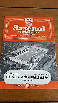 Arsenal V West Bromwich Albion 1.1. 1955