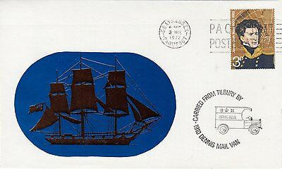 MARITIME : 1972 GRAYS.ESSEX/PAQUEBOT slogan on illustrated special envelope