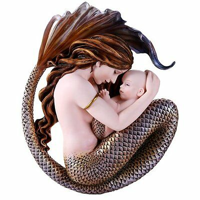 Selina Fench Motherhood Mother Mermaid and Baby Wall Sculpture Plaque