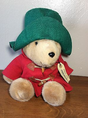"Paddington Bear Plush Stuffed Toy 15"" Eden Toys Red Coat Green Hat"
