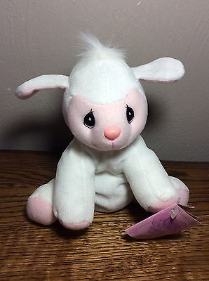 NWT Precious Moments - 463299 - Tender Tails - White Lamb with Pink Face