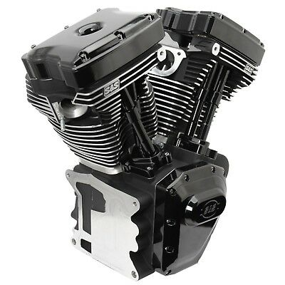 S&s T143 Long Block Black Edition Engine Harley 06-17 Dyna Models Fxd 310-0901