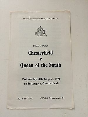 Chesterfield v Queen of the South 1971-72 (pre-season friendly)
