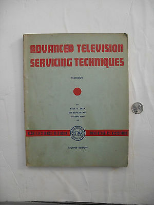 Vintage 1956 Advanced Television Servicing Techniques Textbook RETMA 175 Pg Nice