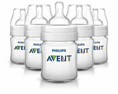 Philips AVENT Classic Plus BPA Free Polypropylene Bottles 4 Ounce (Pack of 5)
