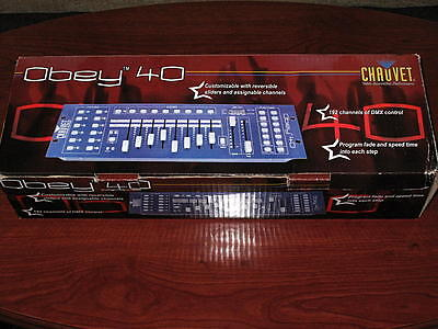 Chauvet Obey 40 DMX Lighting Desk / Controller -  Ex-Demo