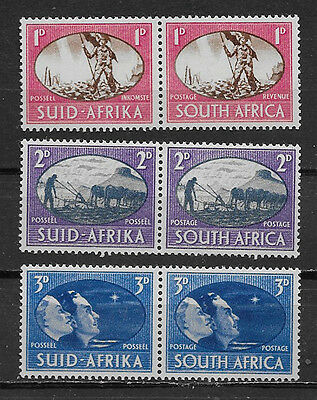 South Africa , 1945, Victory/ww Ii , 2 Sets Of 3 O.p. , Perf , Mnh
