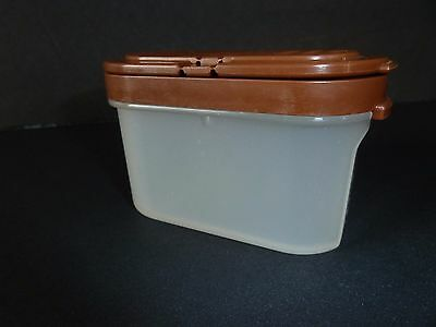 1 Tupperware Modular Mates Small Spice Container With Brown Lid