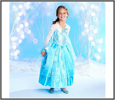 New Official Disney Store Frozen ELSA Deluxe Edition Dress Costume Size 5/6