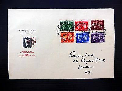 GB 1940 Stamp Centenary Red Cross Bournemouth Cancel RARE F.D.C. FP9056