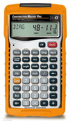 Calculated Construction Master Pro Calculator 4065 w/Hard Case & Priority Mail
