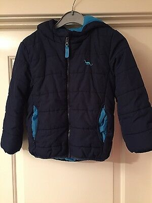 boys blue zoo quilted jacket age 5-6