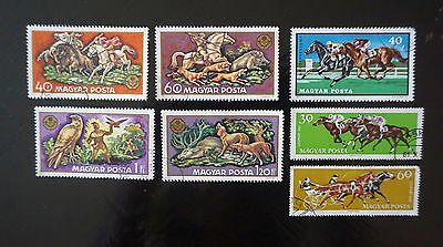 HUNGARY   HORSES  animals  Lot of 7 different HORSE COMMEMORATIVES   used