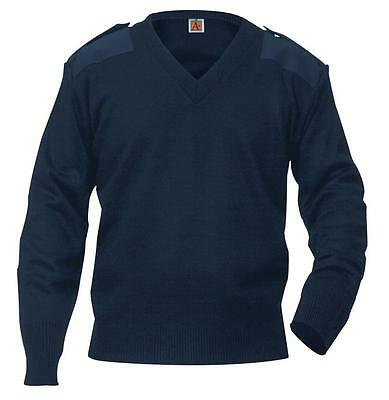 Pilot Uniform Sweater, Navy Blue, Size Small