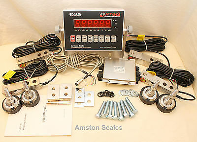 30000 Lb Load Cell Scale Kit Washdown Platform Livestock Cattle Chute Truck New