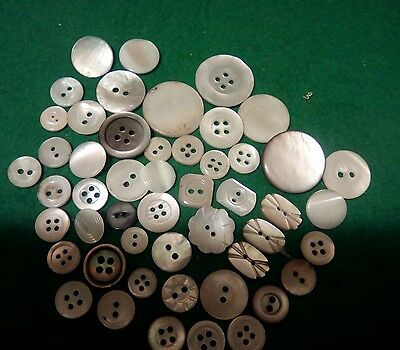 Vintage   mother of pearl buttons  50+