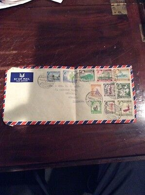 Old 1959. Rhodesia & Nyasaland Stamped Cover