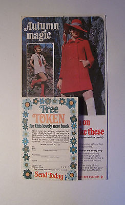 Vintage Littlewoods mail order Catalogue flyer advertisement 1960s Autumn Magic