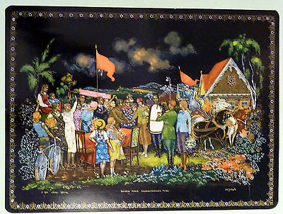 The Art of Soviet Palekh 1958, Palech, Lackmalerei,lacquer painting/repro