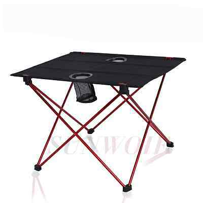Portable Folding Aluminum Table Outdoor Picnic Party Camping Desk + Backpack UK