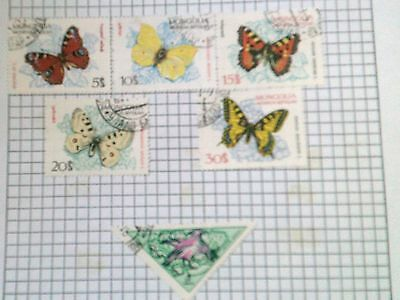 MONGOLIA   - VINTAGE VARIETY OF STAMPS (BUTTERFLIES) - pre 1975