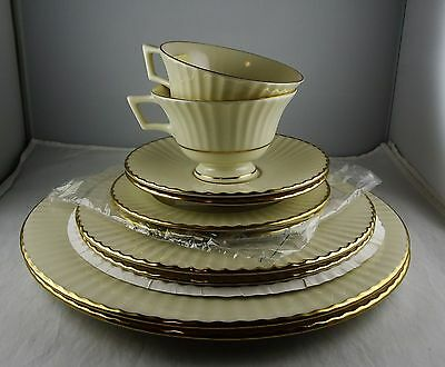Two Lenox 5 Piece Place Settings - Citation Gold - Temple Collection