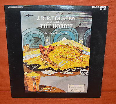 J R R Tolkien Reads And Sings The Hobbit LP Record - Free UK Postage