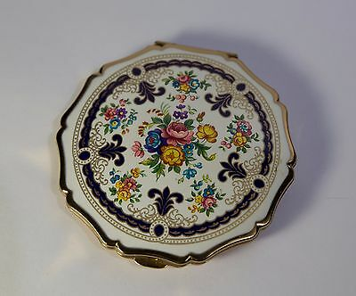 Stratton Floral Compact Made in England