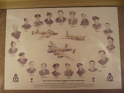 WW2 RAF BOMBER COMMAND AIRCREW REMEMBERED print.