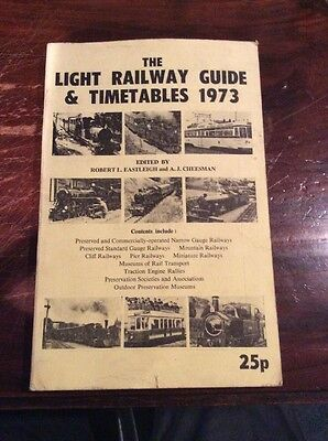 Book. The Light Railways Guide & Timetables. 1973