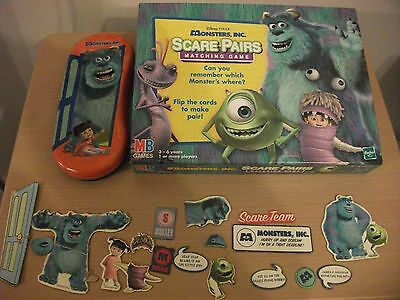 Monsters Inc, Scare- Pairs, Matching Game