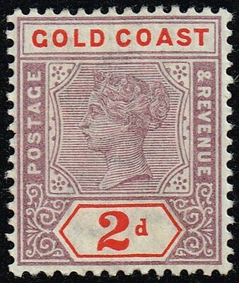 Gold Coast 1902 2d. dull mauve & orange-red, MH (SG#27b)